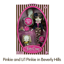 The Bridge Direct Pinkie Cooper Travel Pinkie in Beverly Hills Collection Doll with Pet