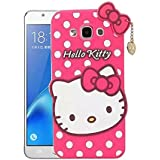 Darrel 3D Designer Cute Hello Kitty Back Cover For Samsungt Galaxy E5- Pink