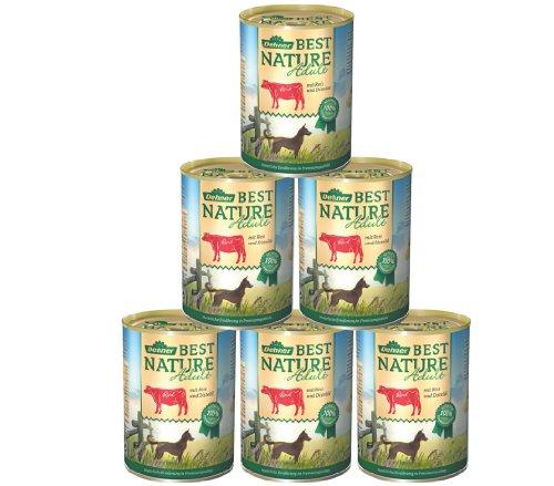 Bild von: Dehner Best Nature Hundefutter, Adult Rind und Reis mit Distelöl, 6 x 400 g (2.4 kg)