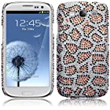 Samsung Galaxy S3 i9300 Leopard Spots Diamante Case / Cover / Shell / Shield PART OF THE QUBITS ACCESSORIES RANGEby Qubits