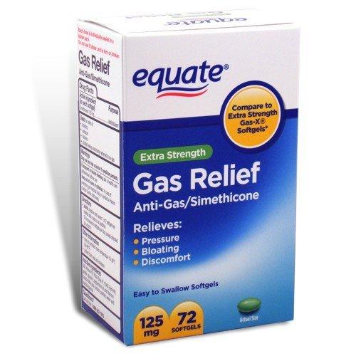 Equate - Gas Relief, Extra Strength, Simethicone 125 mg, 72 Softgels, Compare to Gas-X (Extra Strength Gas X compare prices)