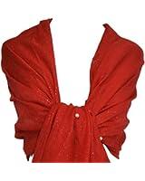 GFM Beautiful Pearl Embellished Sheer Fabric Evening Wear Scarf For Weddings Bridal Bridesmaids