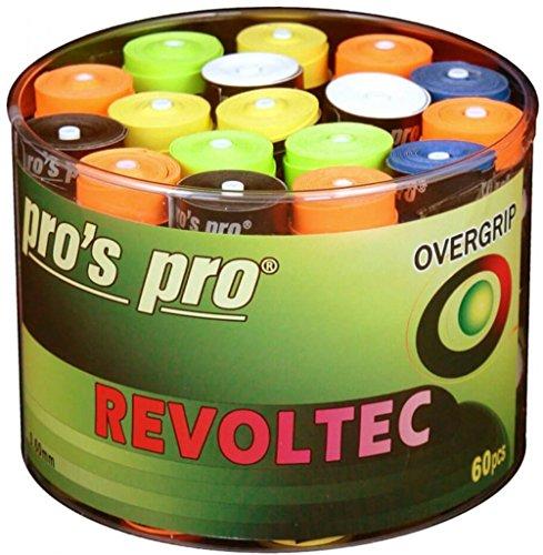 60 Tennis Griffbänder Revoltec bunt gemixt