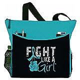 """Fight Like a Girl Boxing Glove Tote Bag """"Dakota"""" (Teal)"""