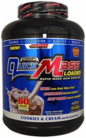 Allmax Nutrition Quick Mass Strawberry Banana -- 10 Lbs