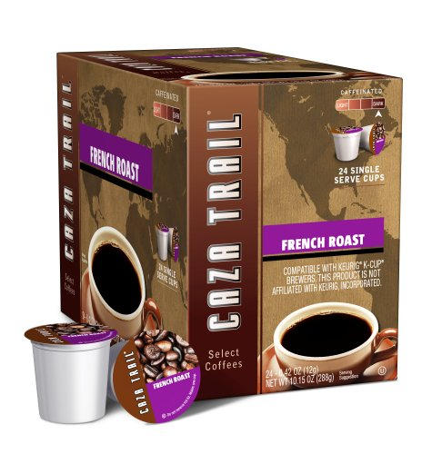 Caza Trail Coffee, French Roast, 24 Single Serve Cups