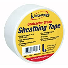 Intertape 85518 Sheathing Tape 1.89-Inches x 55-Yards, White