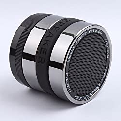 LotFancyÃ'® Sliver Super Bass Hi-Fi Bluetooth Speaker Portable Mini Hands-free Speaker for Computer Laptop iPad iphone ipod Samsung HTC Rechargeable (Black)
