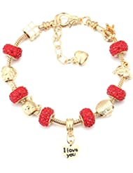Hot And Bold Exquisite Gold Plated Love Charm Bangles & Bracelets For Women & Girls. Free Size. Designer Fashion...