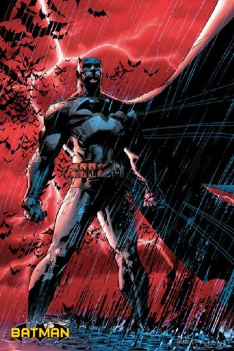 Batman - The Dark Knight Poster Art Print (Red Rain / Lightning)