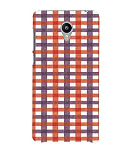 PrintVisa Checks Fabric Pattern 3D Hard Polycarbonate Designer Back Case Cover for Meizu M2