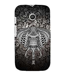 Indian Elephant Graphics 3D Hard Polycarbonate Designer Back Case Cover for Motorola Moto E XT1021 :: Motorola Moto E (1st Gen)