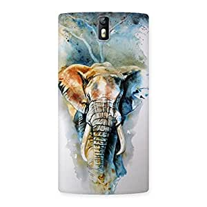 Stylish Elephant Art Back Case Cover for One Plus One