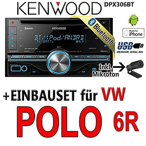 VW polo 6R dPX306BT-kenwood autoradio 2 dIN avec kit bluetooth uSB