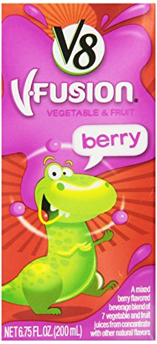 V8 V-Fusion Berry Kid'S Juice Drink Box, 6.75 Ounce Boxes (Pack Of 32) front-677906