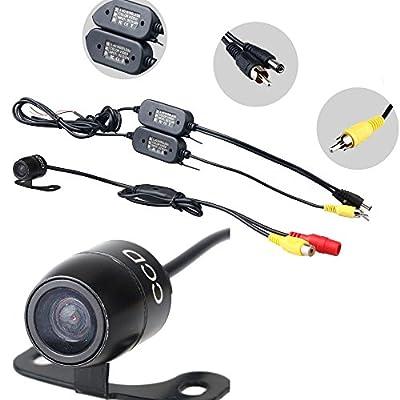 Kfz Rckfahrkamera Seitenkamera Frontkamera Mit 24 Ghz Wireless Funk Transmitter Sender Empfnger Berwachungskamera 420tvl 170 Grad Wasserfest Nachtsicht E306 von boriyuan