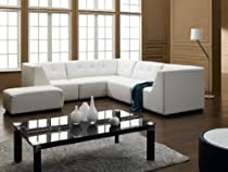 Big Sale Vig Furniture 2827 Modern White Bonded Leather Sectional
