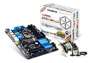 Gigabyte Intel Z77 LGA1155 CrossFireX/SLI Dual Lan Dual UEFI BIOS with Bluetooth 4.0/Wi-Fi Expansion Card GA-Z77X-UD5H-WB WiFi