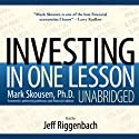 Investing in One Lesson Audiobook by Mark Skousen Narrated by Jeff Riggenbach