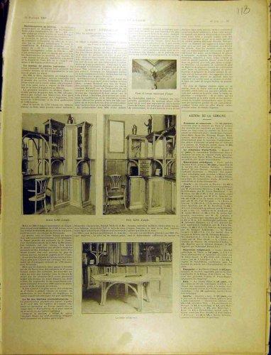 1902 Antique Table Corner Cabinet Buffet Furniture