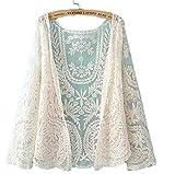kimurea select (キムレアセレクト) レディース ファッション 総レース 花柄 刺繍 カーディガン ボレロ