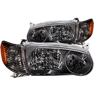 Anzo USA 121182 Toyota Corolla Black With Amber Reflectors Headlight Assembly - (Sold in Pairs)