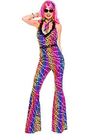 Amazon.com: Disco 70s Diva Sexy Costume - MEDIUM/LARGE: Clothing