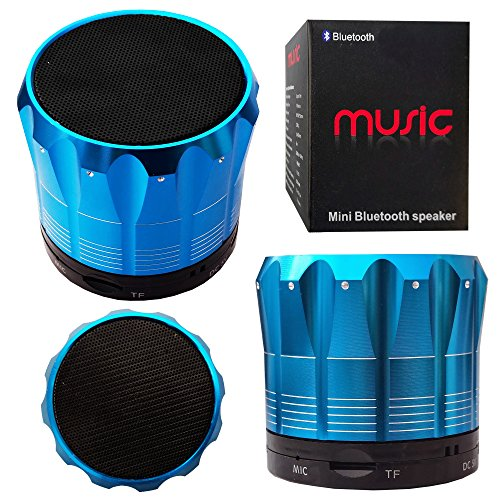 Halfdirect Original Wireless Hd S12 Mini Universal Bluetooth Speaker With Mic / Speaker Phone For All Samsung Galaxy, Apple Iphone, Ipad, Htc One, Zte, Moto, Nokia Phone Models. (Blue)