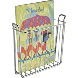 InterDesign Classico Wall Mount Magazine Rack, Chrome