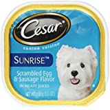CESAR Sunrise Food for Small Dogs Breakfast Scrambled Egg & Sausage, 3.5-Ounce (Pack of 24)