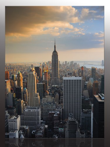 Canvas Picture New York City II ( New York - USA ) -ready framed on wedged stretcher, quality goods 100% made in Germany! Our service for you - with personal dedication and 1-year guarantee on your pictures. The ideal birthday present.