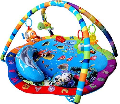 Inside Out Toys - Tappeto da gioco con palestrina musicale per bambini - fantastica fantasia marina