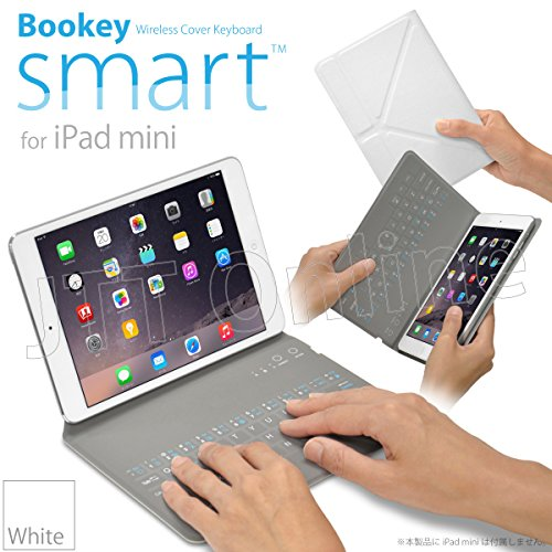 iPad mini 用 カバー&キーボード Bookey smart (ホワイト) 保護カバーとキーボードが今ひとつに!! iPad mini・mini2(Retina)・mini3 対応JTTオンラインオリジナル商品
