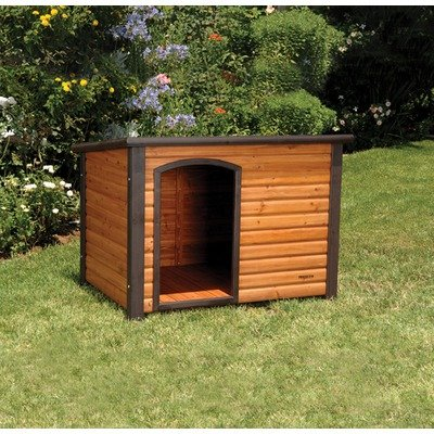 Cheap price precision extreme outback log cabin dog house for Extreme dog houses