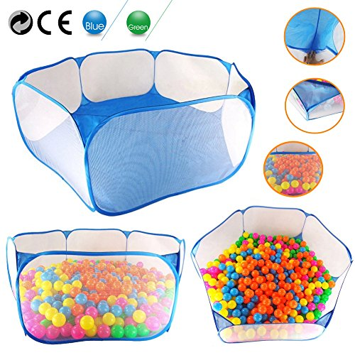 Durable Hexagon Dot Children Playpen Play Pit Tent Carry Tote Indoor or Outdoor Use for Children Baby Infant Kid...