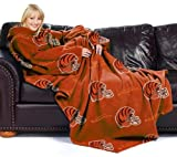 "NFL Cincinnati Bengals Adult Comfy Throw, Officially Licensed Blanket with Sleeves by Northwest ""Repeat"" Design"