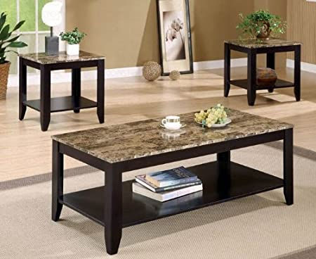 Attractive Marble Top Coffee Table U0026 End Table Set