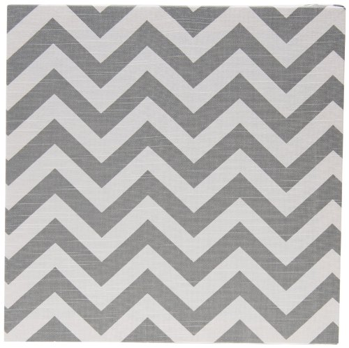Sweet Potato Swizzle Wall Art, Grey Chevron