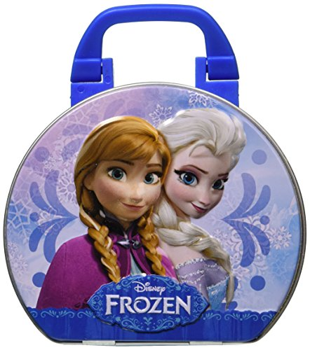 Disney's Frozen Collectible Suitcase Tin with Elsa Anna Sven and Olaf Characters - 1