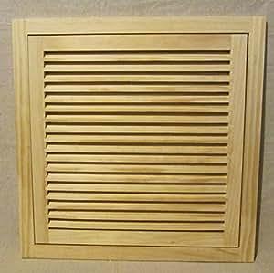 18x18 Wood Return Air Filter Grille Amazon Com