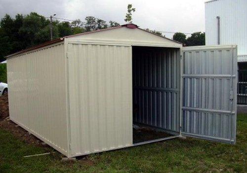 Box casetta in lamiera zincata con struttura in acciaio for Casetta giardino usata