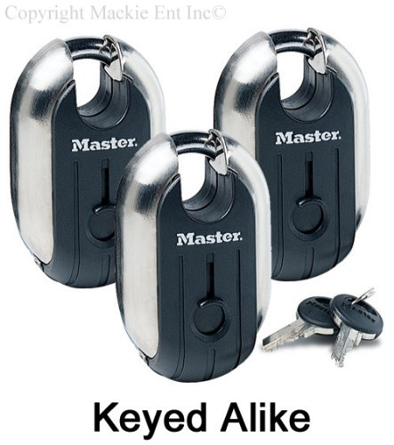 "Фото Master Lock - Titanium Trailer Door Locks 2-7/16"" #187KA-3 Pack"