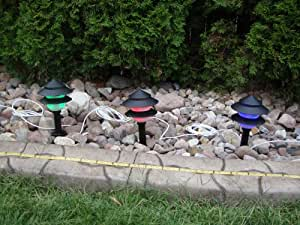 Landscape Lights Led Low Voltage Pre-wired Lights with Remote Control, 20 Possible Colors