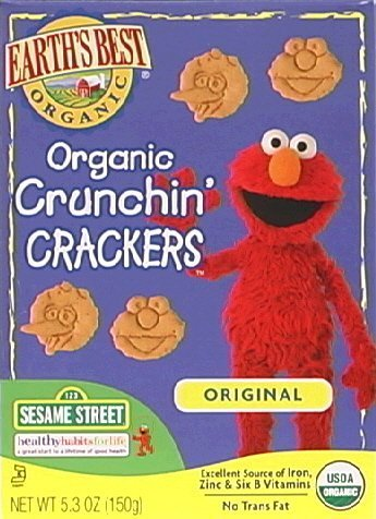 Earth's Best Sesame Street Crunchin' Crackers Original 5.3 oz (Pack of 2)