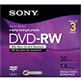 Sony 3DMW30R2HC 3-Pack 8cm DVD-RW with Hangtab