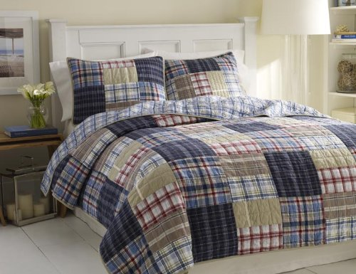 Nautica Chatham Quilt, King, 90 By 100-Inch back-1037347