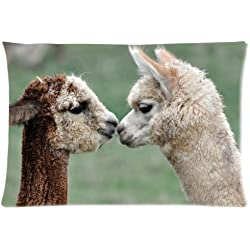 Two Funny And Cute Alpacas Love of Alpacas - Custom Personalized Pillowcase/ Pillow Cover
