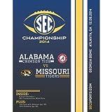 2014 SEC Championship Official Program- Alabama Crimson Tide vs. Missouri Tigers-Mint