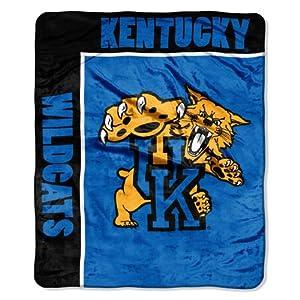 NCAA Kentucky Wildcats 50-Inch-by-60-Inch Raschel Plush Throw School Spirit Design by Northwest