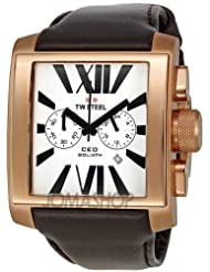TW Steel CEO Goliath White Dial Chronograph Gold-plated 42mm Mens Watch CE3009